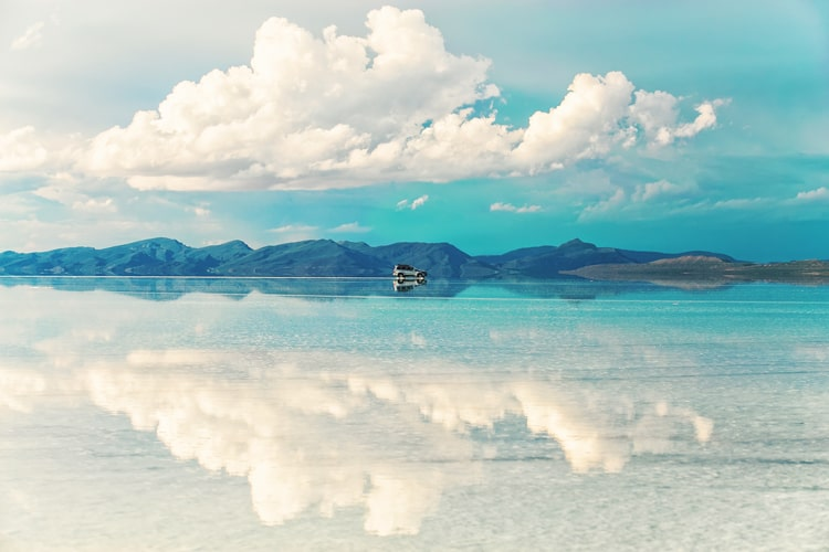 Spectacular salt flats of the world