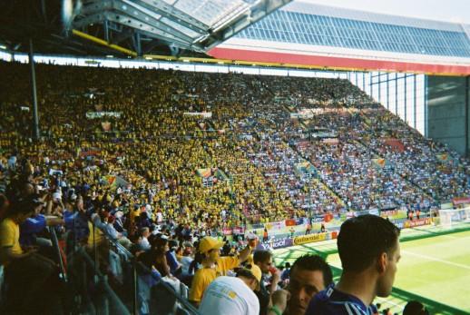 Bending it around England's football stadiums
