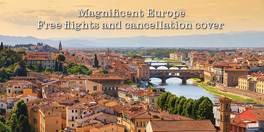 Free flights and cancellation cover on European tours