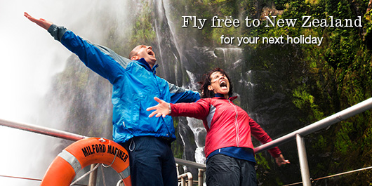 Fly free to New Zealand