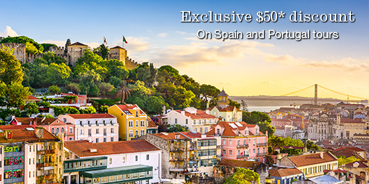Exclusive 450* discount on Spain and Portugal tours