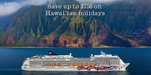 Save up to $758 on Hawai'ian holidays