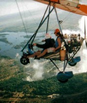 Microlite ride over Victoria Falls in Africa.  An amazing experience!