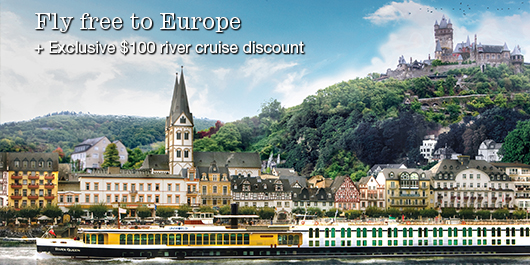 Fly free to Europe + exclusive $100 river cruise discount