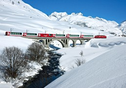 Rail through Switzerland - never ending views