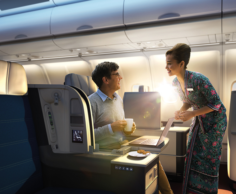 Malaysia Airlines' business class: