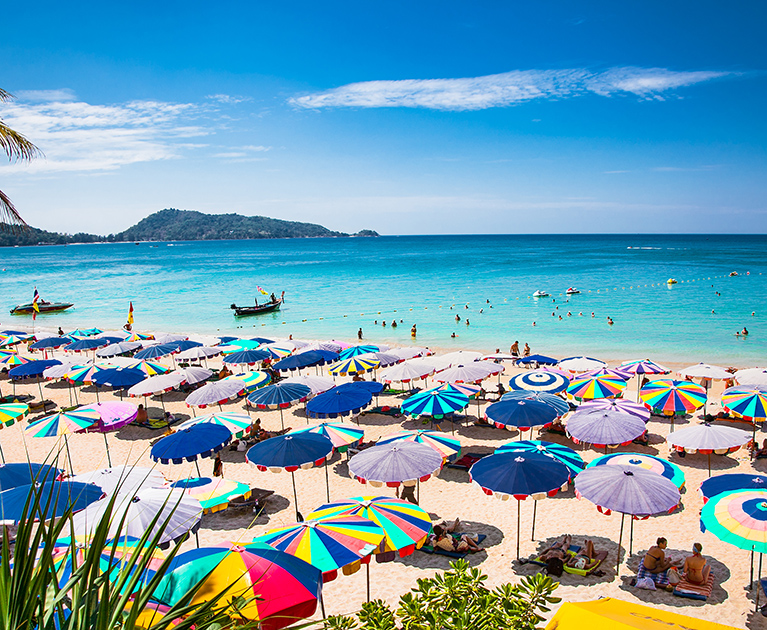 Return business class airfares to Phuket: