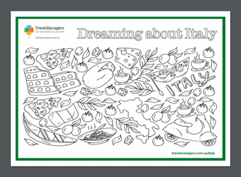 Italy Colouring sheet | TravelManagers