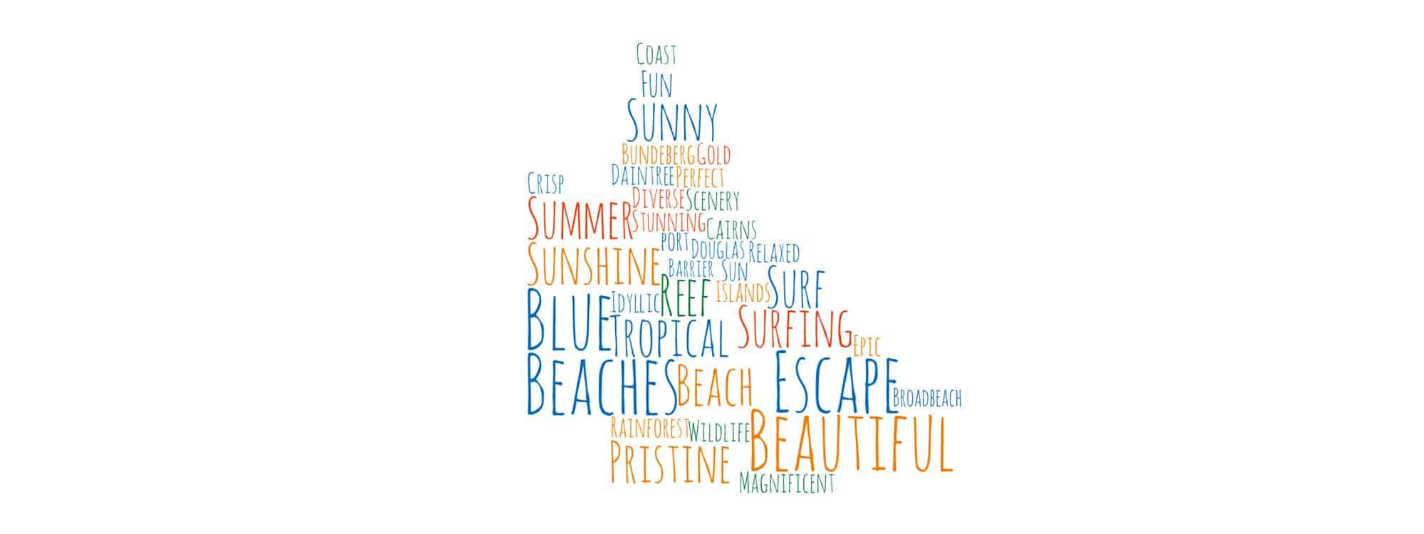 Queensland Word Map