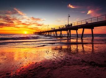 Sunset at Glenelg Beach, Adelaide, South Australia, Australia