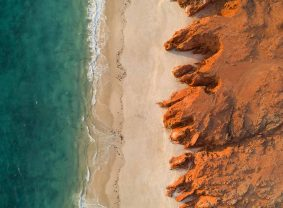 Aerial view of Western Beach, Kooljaman at Cape Leveque | TravelManagers Australia
