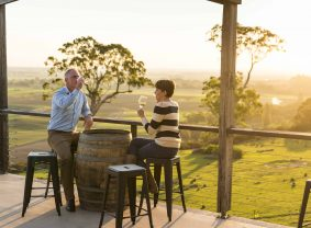 Sunset at Lightfoot and Sons Winery, Gippsland Lakes, Victoria, Australia | TravelManagers Australia