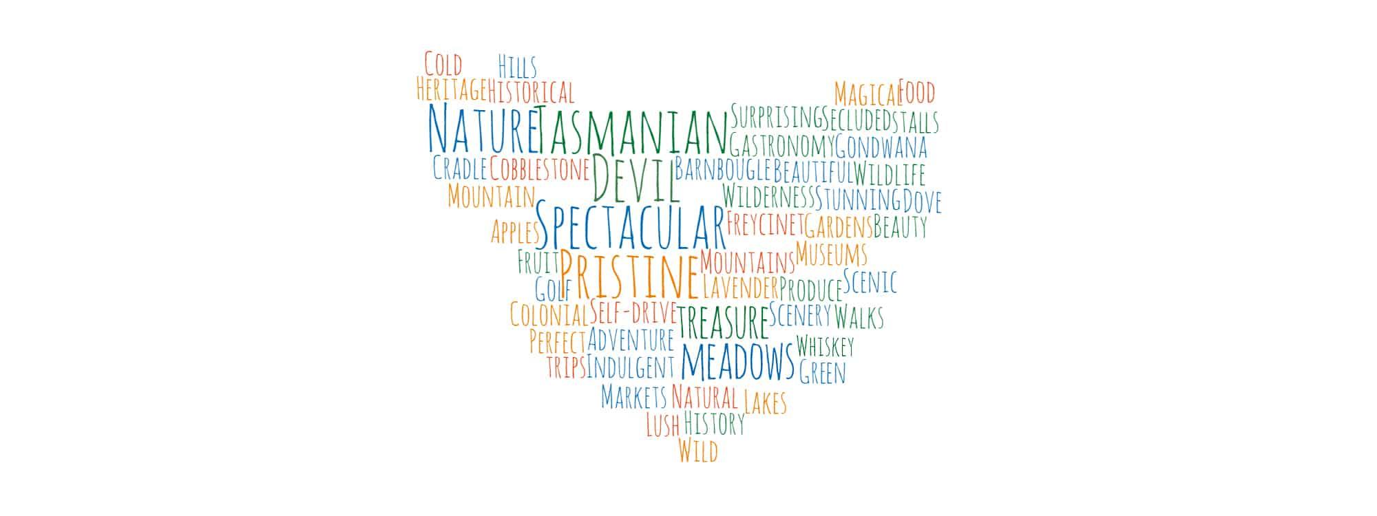 Tasmania Word Map | TravelManagers Australia