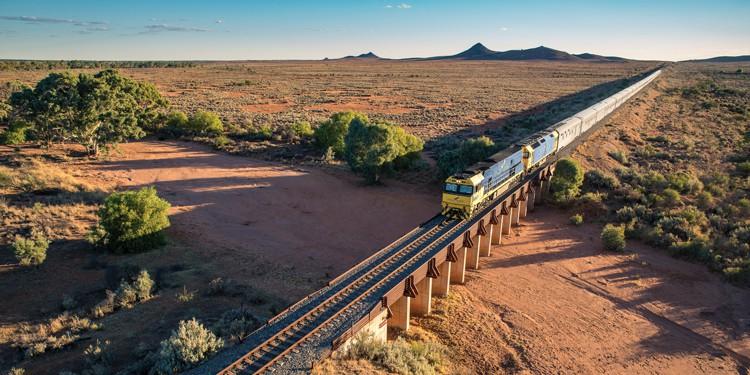Indian Pacific Railway - Train Heading East Towards Broken Hill | TravelManagers Australia