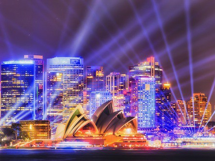 Vivid Sydney. 3 nights + 3 course dinner cruise from $325*pp